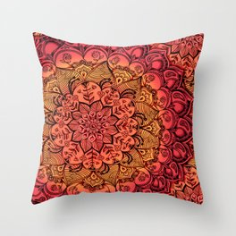 Ruby & Garnet Doodle Throw Pillow