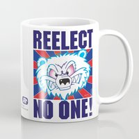politics Mugs featuring Polar Bear Politics by Clore Concepts Chucks Stuff