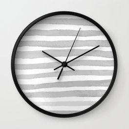 Watercolor Stripes. Wall Clock