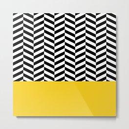 Black&Yellow Metal Print