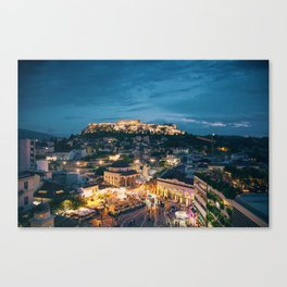Athens Greece at Dusk Canvas Print