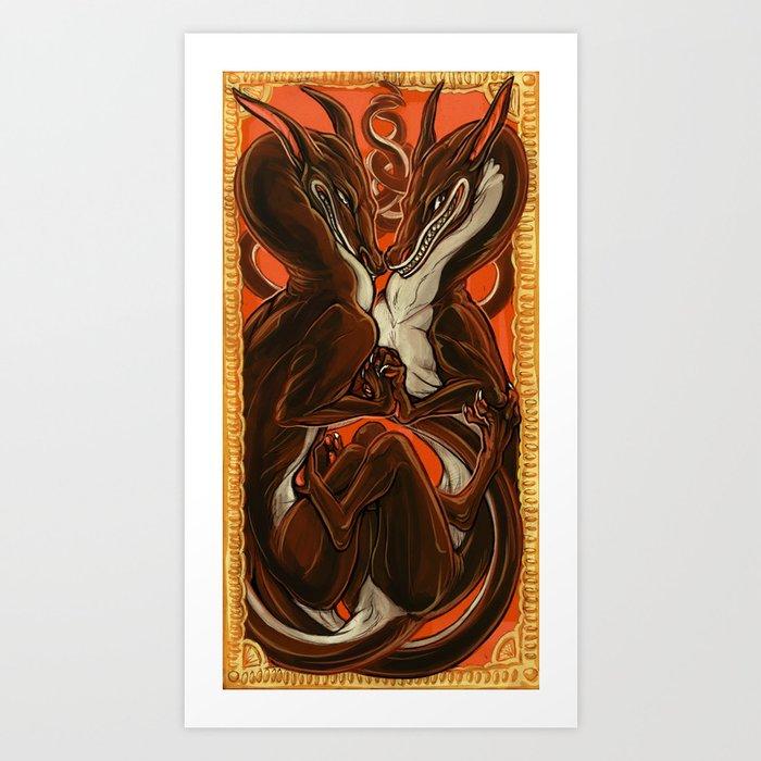 Dance of the Devils Art Print