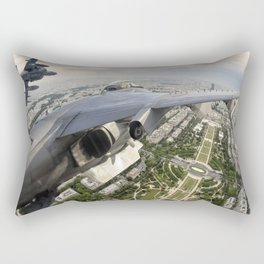 Flying over Mars Rectangular Pillow