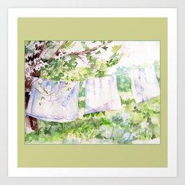 Summer Clothesline Art Print