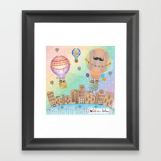 I {❤} Hot Air Balloon Framed Art Print