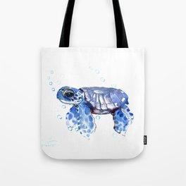 Baby Blue Turtle Tote Bag