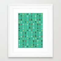 arrows Framed Art Prints featuring Arrows by Claire Lordon