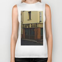 "60s Biker Tanks featuring Vintage Cafe Bar ""Tout va Bien"" 60s  by Premium"