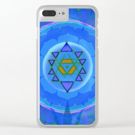 Inner Light Yantra Clear iPhone Case