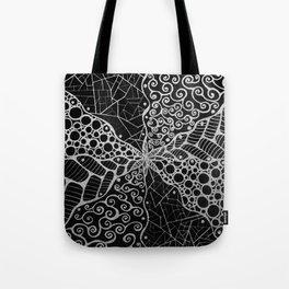 Black and white mandala Tote Bag