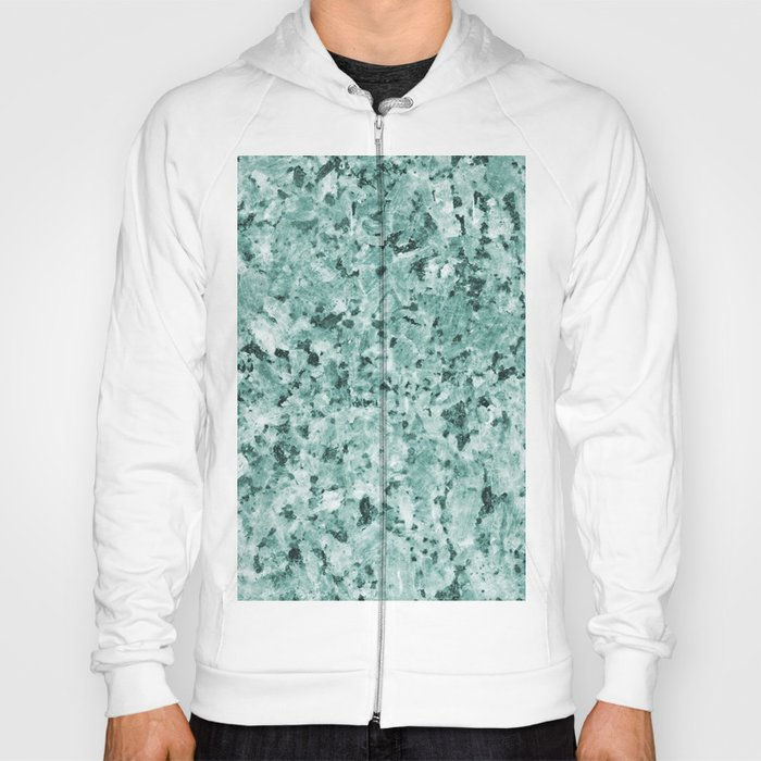 Polished granite verde - turquoise stone Hoody