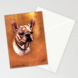 """French Bulldog """"Kos of Kneesworth"""" by """"Dorothy S Hallett"""" (fl 1913-1934) by BoubouleArt Stationery Cards"""