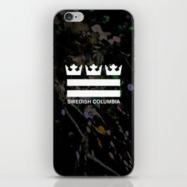 Swedish Columbia Logo (Classic) iPhone Skin