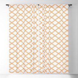 Orange Diamonds Blackout Curtain