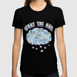 Climate Nature Earth Atmosphere Heat Wind Season Weather Clouds What The Hail Gift T-shirt