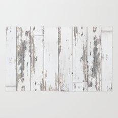 White Wood Rug
