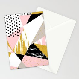 Abstract triangle Stationery Cards