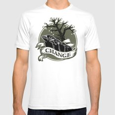 Darwin's Finches MEDIUM White Mens Fitted Tee