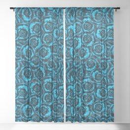 Rose   blue, blue... Sheer Curtain