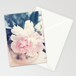 Beautiful Peony Flower Art Stationery Cards