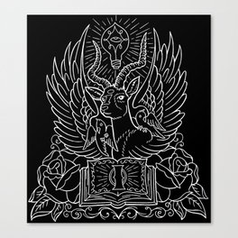 Information Antelope - White Lines Canvas Print