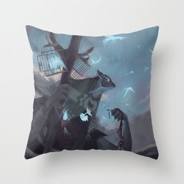 The Dreamteller of the Departed Throw Pillow