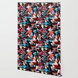 Ebru Pattern Of Hearts Wallpaper