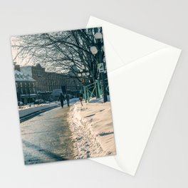 Old Quebec - People walking Stationery Cards