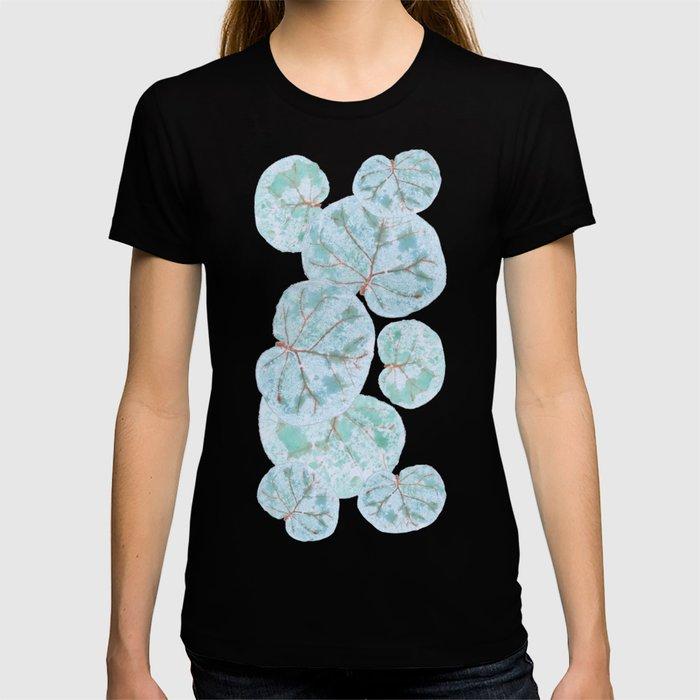 Sea Grape Tropical Leaves T-shirt