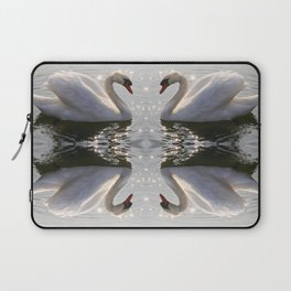 one swan a swimming Laptop Sleeve