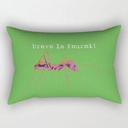 bravo la fourmi! Rectangular Pillow