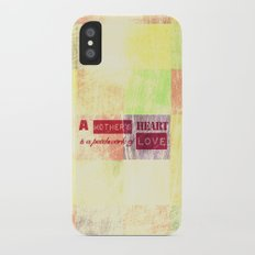 A mother's heart is a patchwork of love iPhone X Slim Case