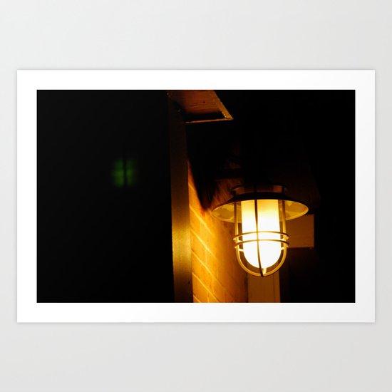Yellow streetlight Art Print
