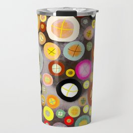 The incident - Circles pale vintage cross Travel Mug