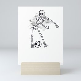 Dabbing Skeleton Soccer Ball graphic by print NINJA Mini Art Print