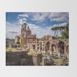 Roman Ruins Throw Blanket