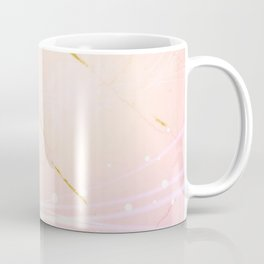 Rose Gold Marble Burst Coffee Mug