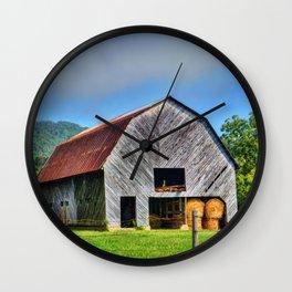 Rural Barn Wall Clock
