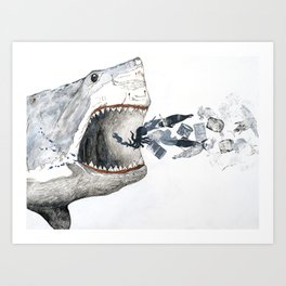 Shark vs. Misc. Art Print