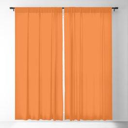 Colors of Autumn Warm Apricot Orange Solid Color Blackout Curtain