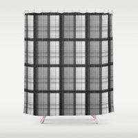 plaid Shower Curtains featuring Plaid by Jonna Ivin