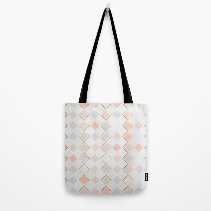 Pattern Rose Tote Bag