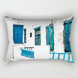 Out of the Blue   Mykonos, Greece Rectangular Pillow
