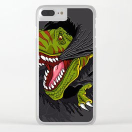 Agressive t rex. Clear iPhone Case