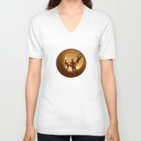 football V-neck T-shirts featuring Football by Anastassia Elias