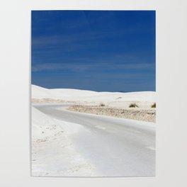 White Sand Reaches Up To The Horizon Poster