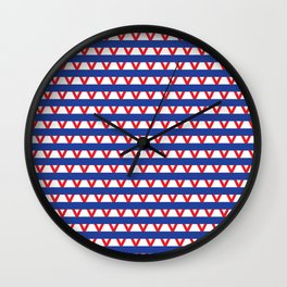 Paranoia (Blue and Red) Wall Clock