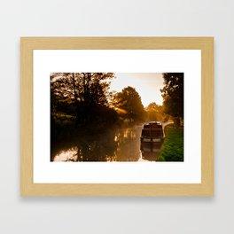 Sunrise over Keighley Valley Framed Art Print