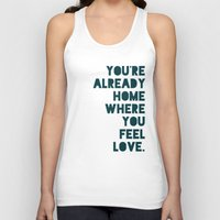 home sweet home Tank Tops featuring Home by Leah Flores