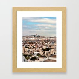 A Paris, France cityscape Framed Art Print